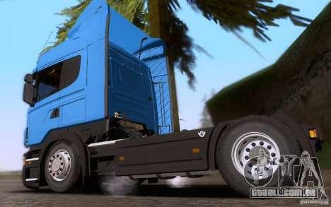 Scania R500 para GTA San Andreas esquerda vista