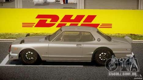 Nissan Skyline Hakosuka (KPGC10) Mountain Drift para GTA 4 esquerda vista