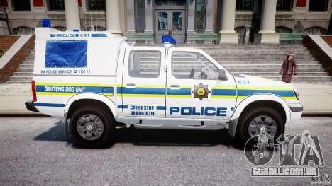 Nissan Frontier Essex Police Unit para GTA 4 vista interior