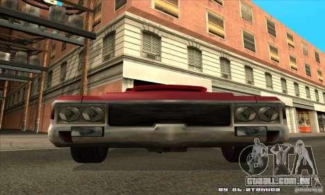 Sabre Drift para GTA San Andreas vista traseira