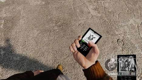 O tema de Mercenaries 2 para telefones móveis para GTA 4 segundo screenshot