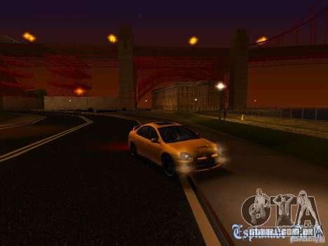 Dodge Neon SRT4 2006 para GTA San Andreas vista superior