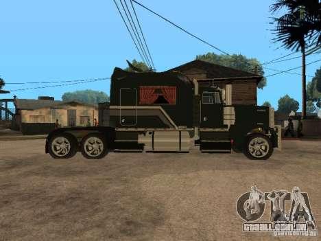Custom Kenworth w900 - Custom - Trailer para GTA San Andreas traseira esquerda vista