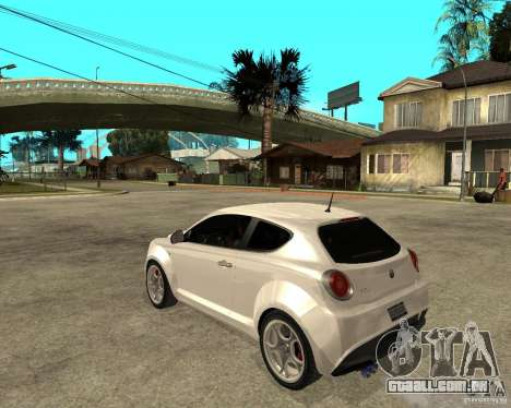 Alfa Romeo Mito para GTA San Andreas esquerda vista