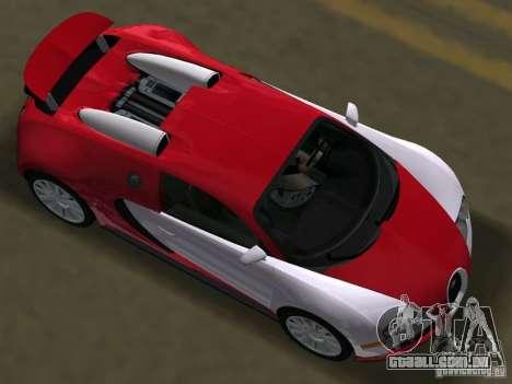 Bugatti Veyron EB 16.4 para GTA Vice City vista direita