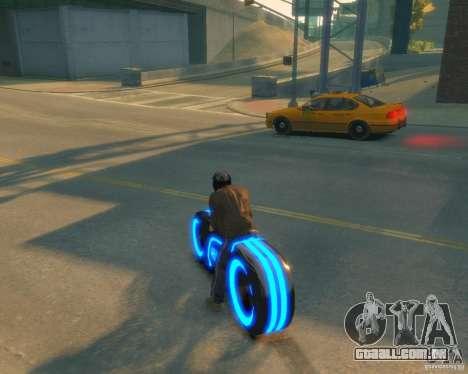 Motocicleta do trono (néon azul) para GTA 4