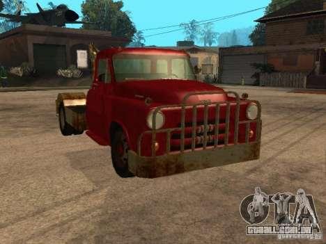 Caminhão Dodge é oxidado para vista lateral GTA San Andreas