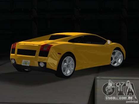 Lamborghini Gallardo para GTA Vice City deixou vista
