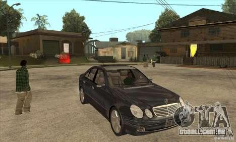 Mercedes-Benz E500 2003 para GTA San Andreas vista traseira