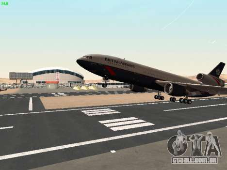 McDonell Douglas DC-10-30 British Airways para vista lateral GTA San Andreas