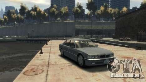 BMW 740i E38 para GTA 4 vista direita