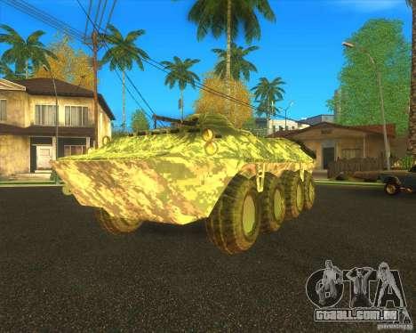 Camuflagem eletrônica BTR-80 para GTA San Andreas vista traseira