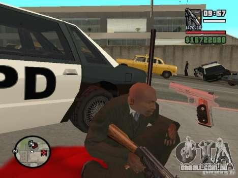 Silverballer do Hitman para GTA San Andreas terceira tela