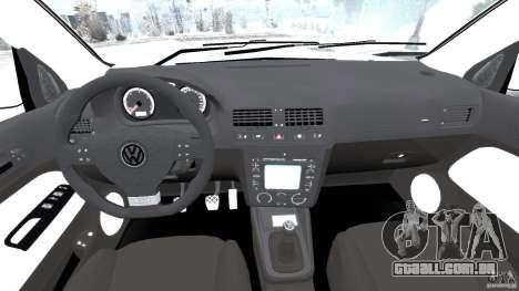 Volkswagen Golf Sportline 2011 para GTA 4 vista de volta