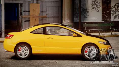 Honda Civic Si Coupe 2006 v1.0 para GTA 4 esquerda vista