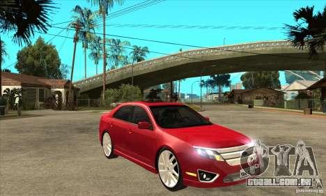 Ford Fusion Hybrid para GTA San Andreas vista traseira