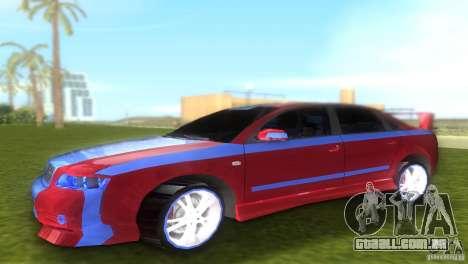 Audi A4 STREET RACING EDITION para GTA Vice City deixou vista