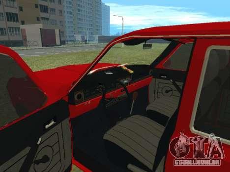 Volga GAZ-24-02 para GTA San Andreas vista traseira