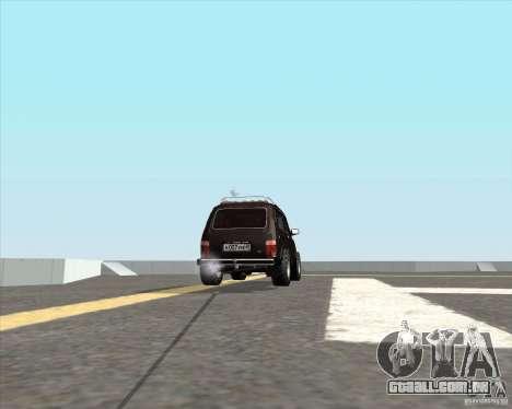 VAZ 21213 Offroad para GTA San Andreas traseira esquerda vista