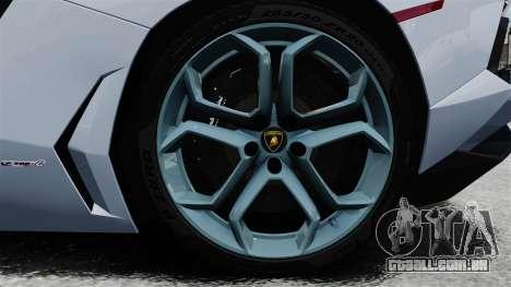 Lamborghini Aventador LP700-4 2012 v2.0 EPM para GTA 4 vista de volta