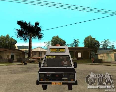 RAPH 22038 taxi para GTA San Andreas vista traseira