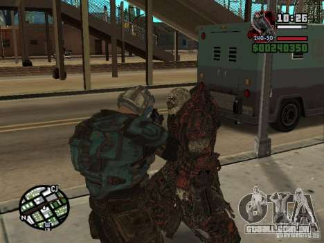 Lokast Theron guarda para GTA San Andreas por diante tela