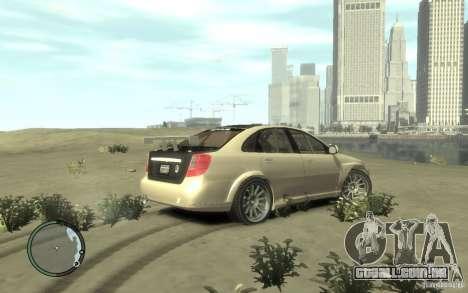 Chevrolet Lacetti Street Tune para GTA 4 traseira esquerda vista