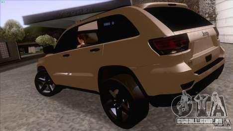 Jeep Grand Cherokee 2012 para GTA San Andreas vista direita