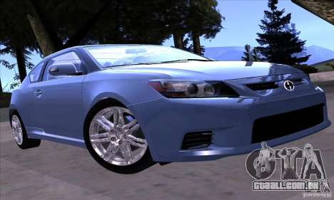 Scion Tc 2012 para GTA San Andreas esquerda vista