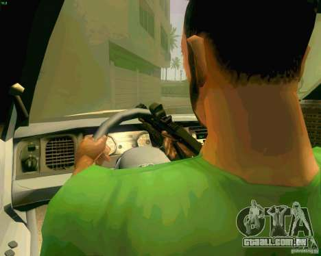 Ford Crown Victoria 2003 NYPD police para vista lateral GTA San Andreas