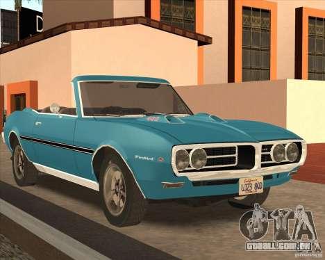Pontiac Firebird Conversible 1966 para GTA San Andreas