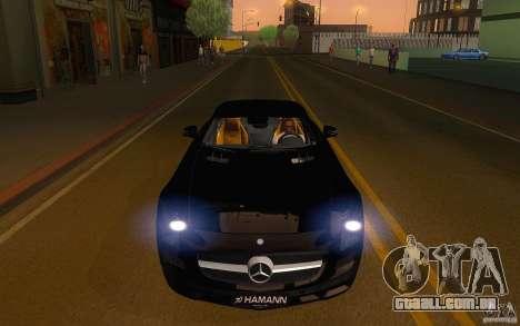 Mercedes Benz SLS HAMANN para GTA San Andreas vista traseira