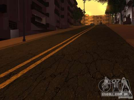 Novas estradas na Grove Street para GTA San Andreas quinto tela