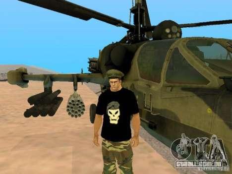 Ka-52 Alligator para GTA San Andreas esquerda vista