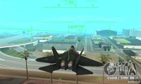 YF-22 Standart para GTA San Andreas vista interior