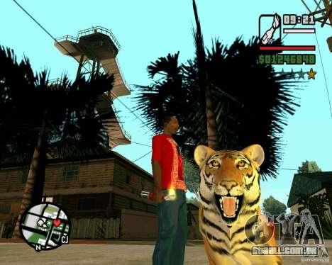 Tigre no GTA San Andreas para GTA San Andreas segunda tela