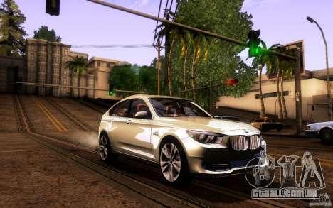 BMW 550i GranTurismo 2009 V1.0 para GTA San Andreas vista inferior