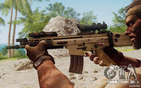 FN Scar L para GTA San Andreas sexta tela