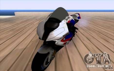 BMW S1000 RR para GTA San Andreas traseira esquerda vista