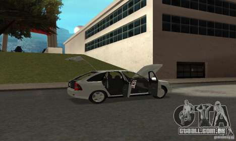 Lada Priora Hatchback para GTA San Andreas vista superior
