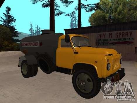 GAZ 53 caminhão para GTA San Andreas esquerda vista