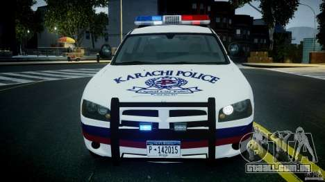 Dodge Charger Karachi City Police Dept Car [ELS] para GTA 4 vista interior