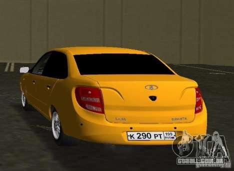 Lada Granta v2.0 para GTA Vice City vista traseira esquerda