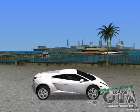 Lamborghini Gallardo para GTA Vice City vista direita