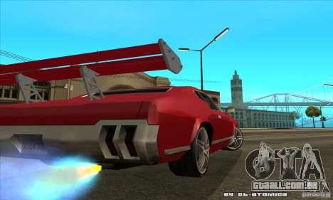 Sabre Drift para GTA San Andreas traseira esquerda vista