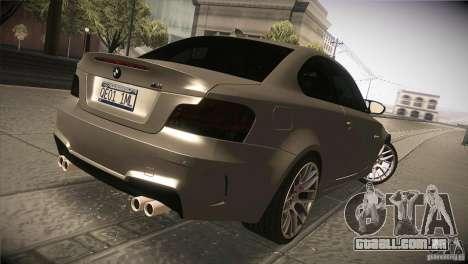 BMW 1M E82 Coupe 2011 V1.0 para GTA San Andreas vista direita