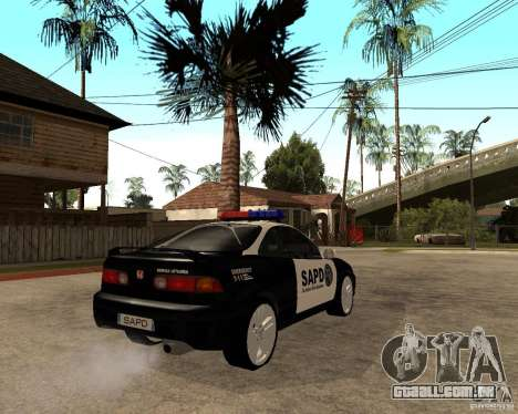 Honda Integra 1996 SA POLICE para GTA San Andreas vista direita