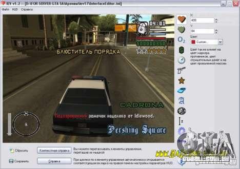 Editor Huda para GTA San Andreas