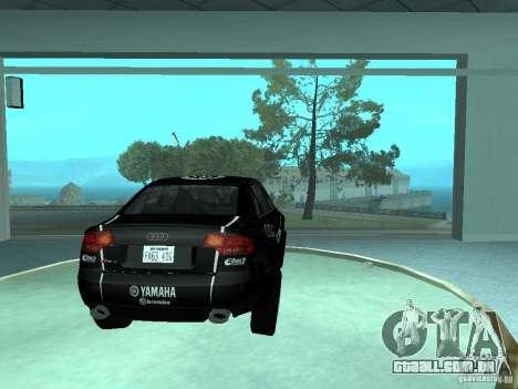 Audi RS4 para GTA San Andreas vista inferior