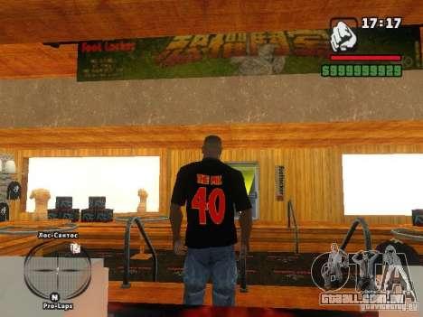 A t-shirt MIZ para GTA San Andreas segunda tela